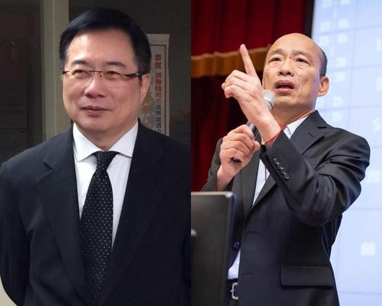 蔡正元(左)指韓國瑜收受4000萬元新台幣競選經費。蔡正元及韓國瑜FB圖片
