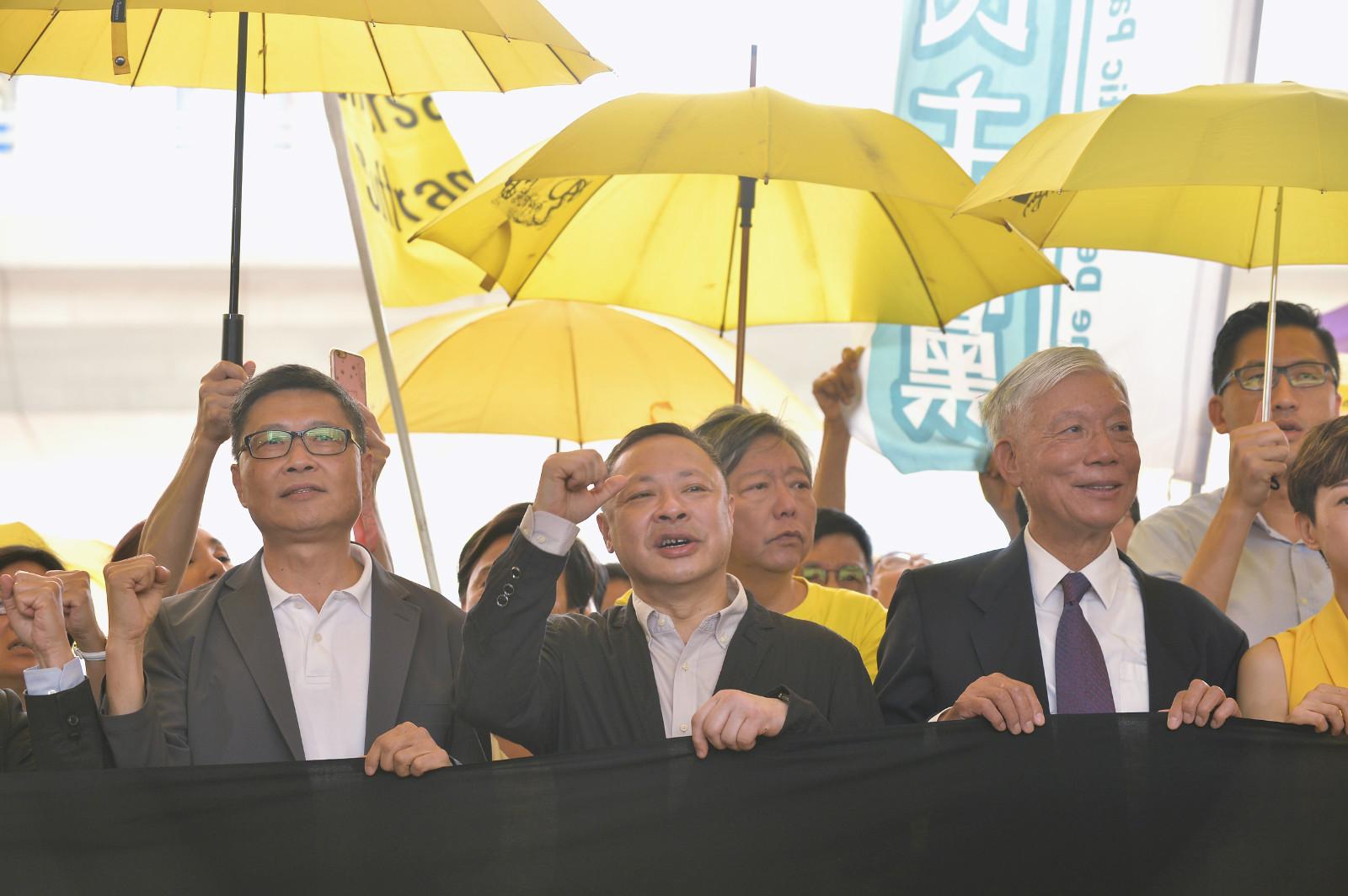 案中被告陳健民(前左)。資料圖片
