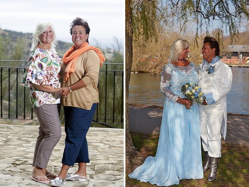 两人在今年举办童话风格的梦幻婚礼,桑德拉打扮成灰姑娘,雪伦担任她的王子。 网上图片