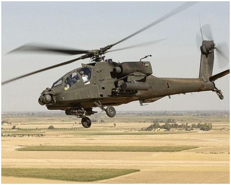 摩洛哥空军一架军用直升机坠毁。网图