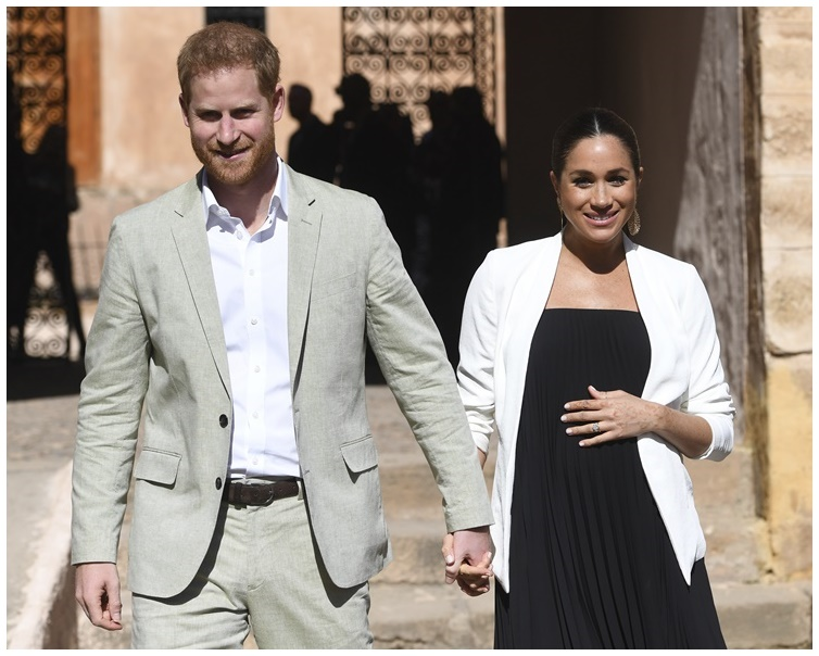 哈里王子和夫人梅根即將迎接兩人的第一個寶寶。AP