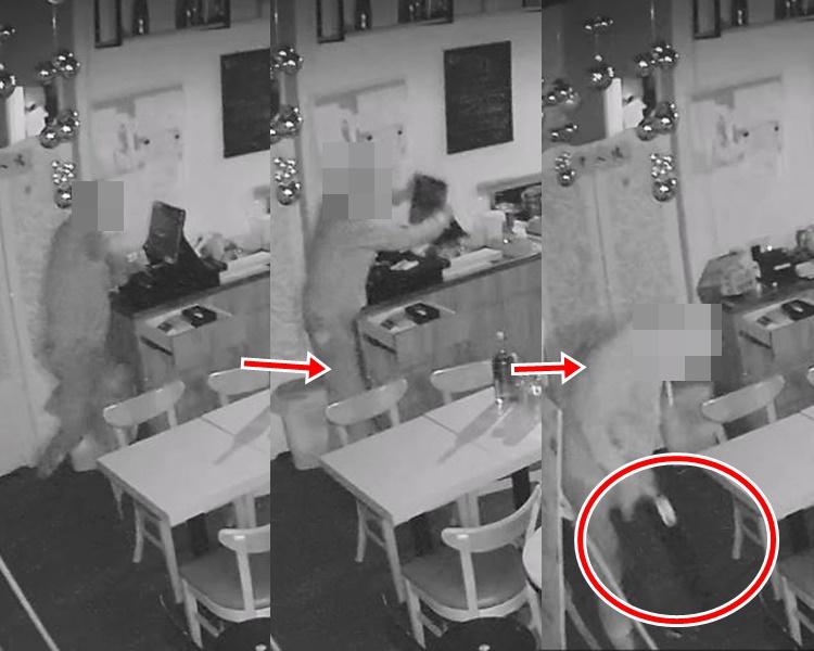賊人強行拆走錢櫃後逃去。
