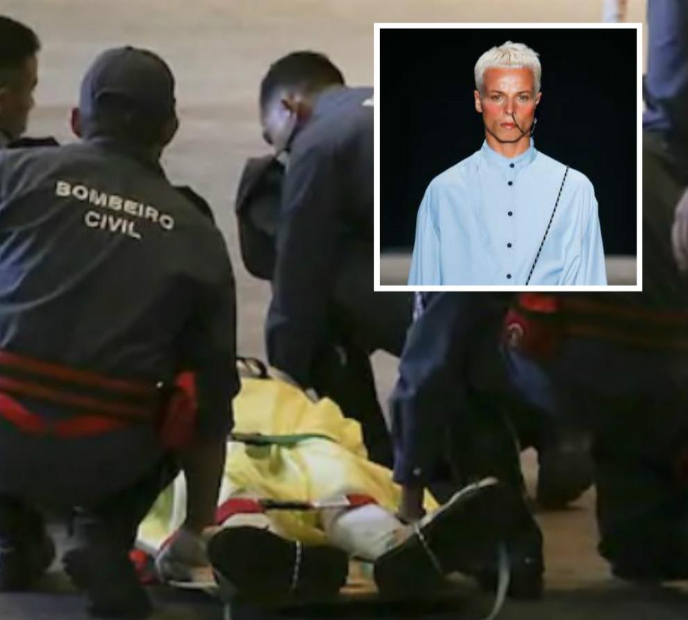 26歲模特兒Tales Soares在表演期間昏迷不治。AP