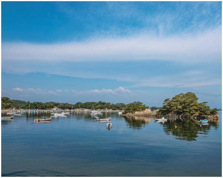 日本三景之一的松島。網圖