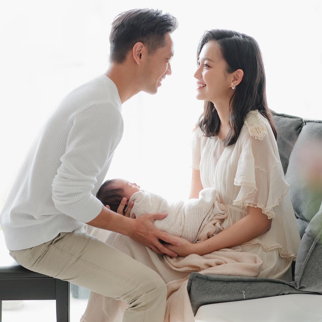 楊愛瑾上月誕下囡囡,成功三年抱兩。(ig圖片)