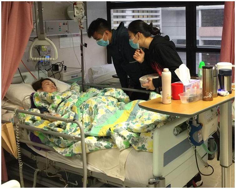 少婦杜穎楠左腳遭輾斷需接受截肢手術。資料圖片