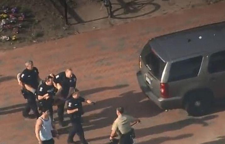 警方拘捕一名疑犯。网图