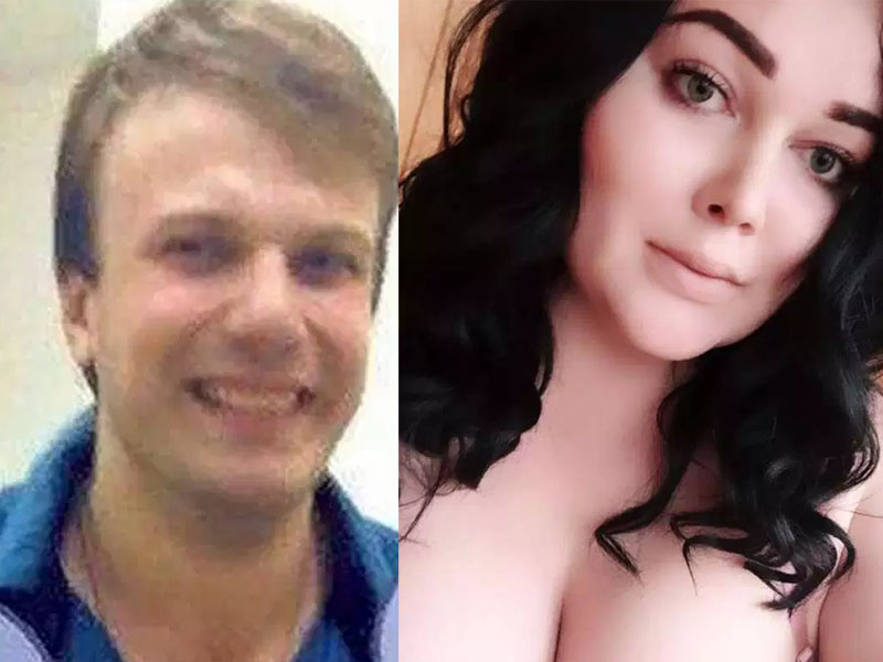 27岁的医生米哈伊尔(左)发现和自己发生关係的女子妮娜(右)竟然是一位变性人,竟将对方肢解。(网图)