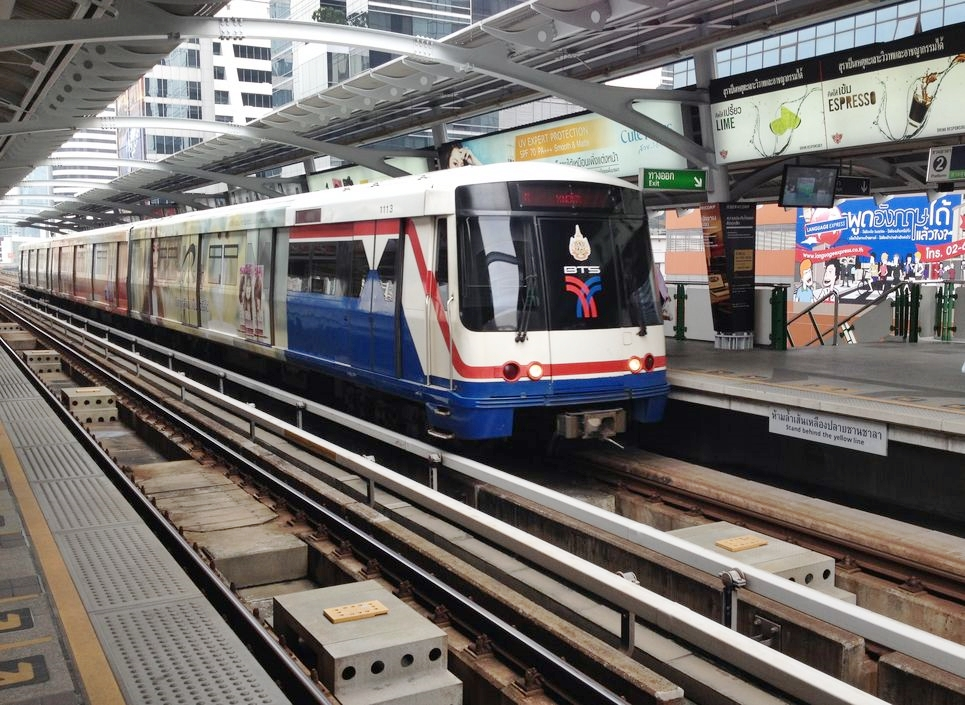 当地政府与曼谷的铁路公司合作,为大众提供为期数天的免费乘搭BTS服务。资料图片