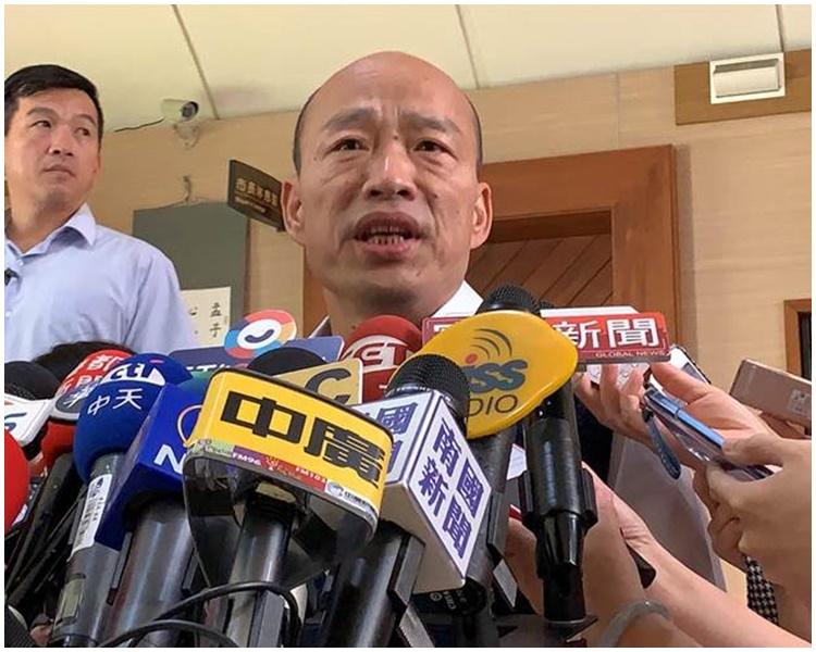 韓國瑜批評恐嚇者下流。網圖