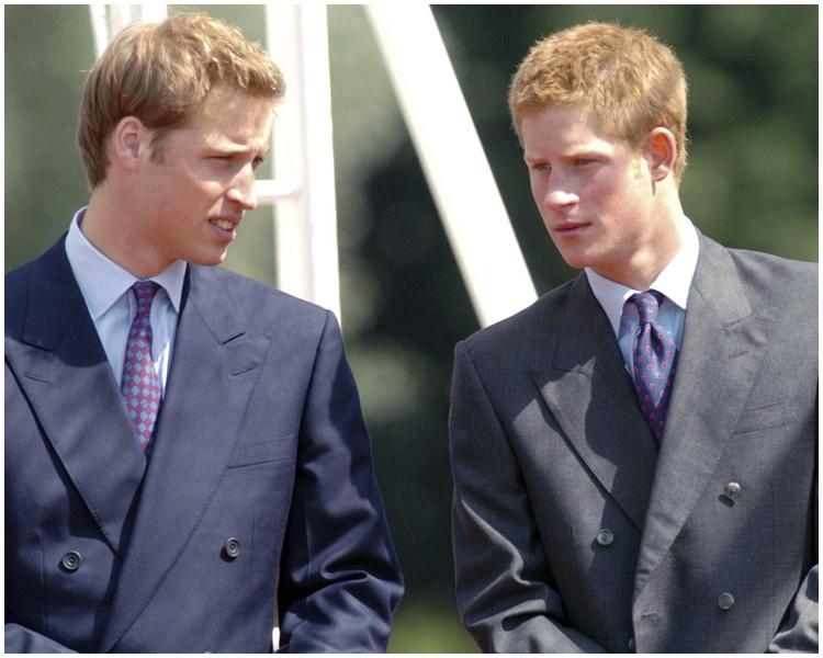威廉(左)與哈里(右)並非不和。AP