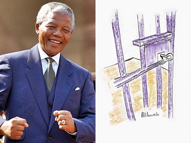 曼德拉的作品《罗本岛的牢门》于2002年完成。网图