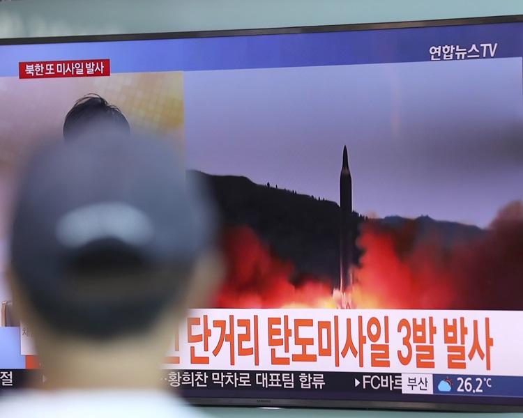 北韩又试射短程导弹。资料图片