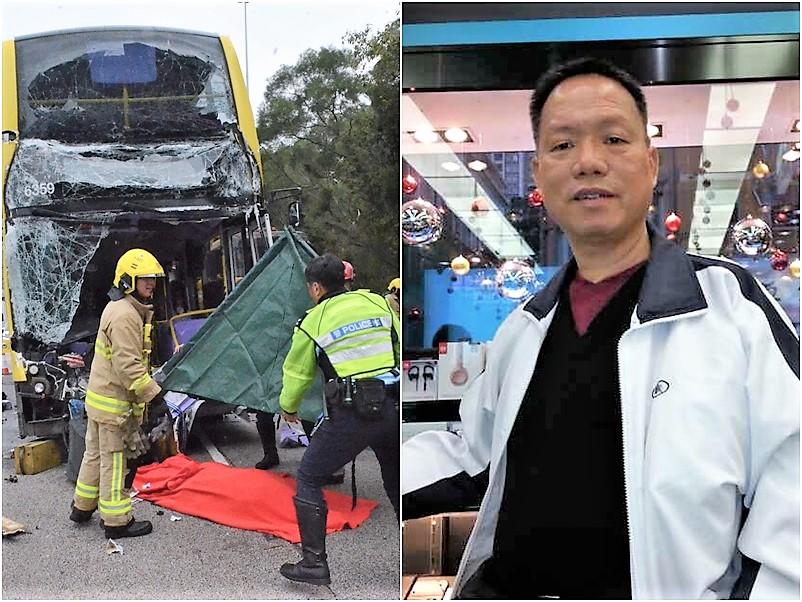 蘇國偉於今年三月四日駕城巴至西九龍快速公路撞貨車尾板慘死。資料圖片