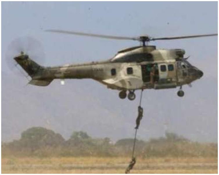 直升机在首都加拉加斯郊区撞山坠毁。资料图片
