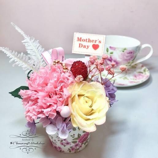 母親節保鮮花茶杯花工作坊。C'lovercraft Workshop圖片