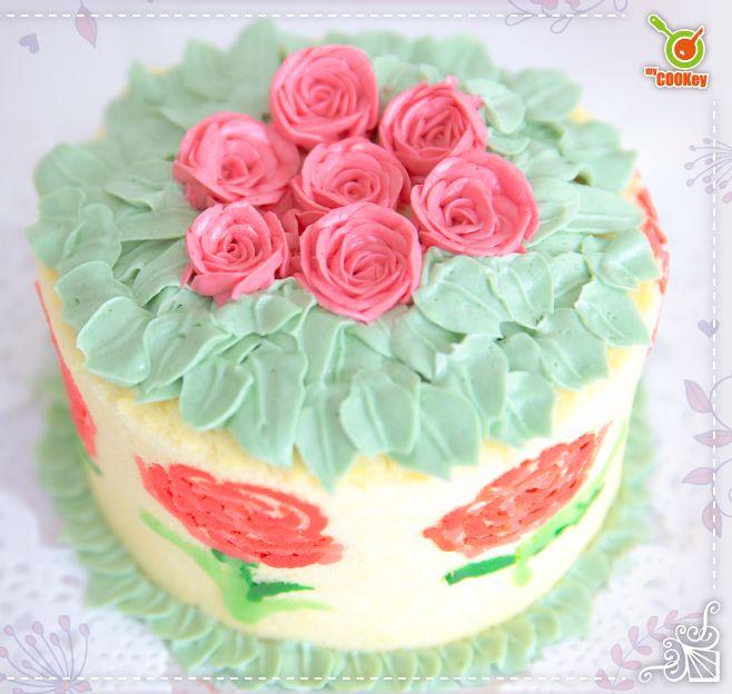 手繪母親節蛋糕班。myCOOKey圖片