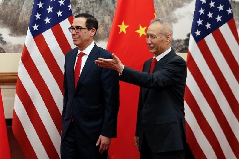 中國國務院副總理劉鶴率領的中方經貿代表團原定周三在美國華盛頓舉行第十輪貿易談判。AP