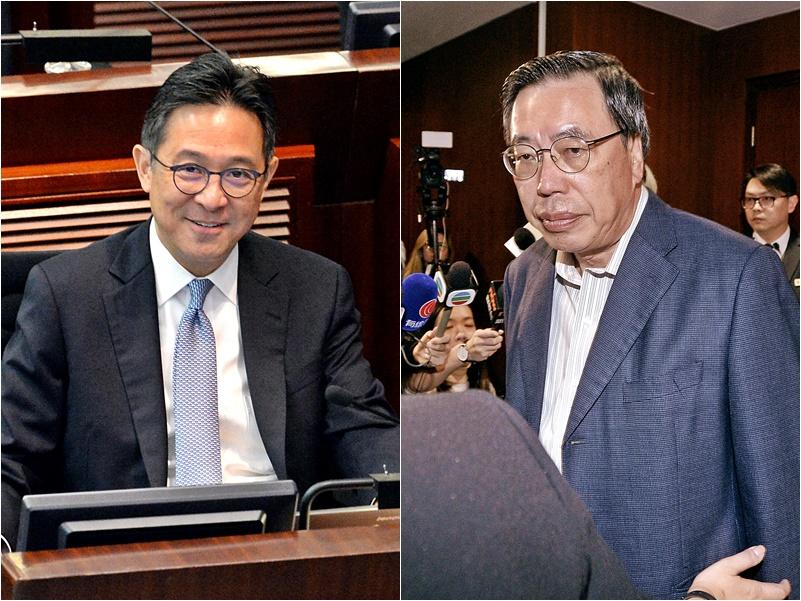 陳維安(左)、梁君彥(右)。資料圖片