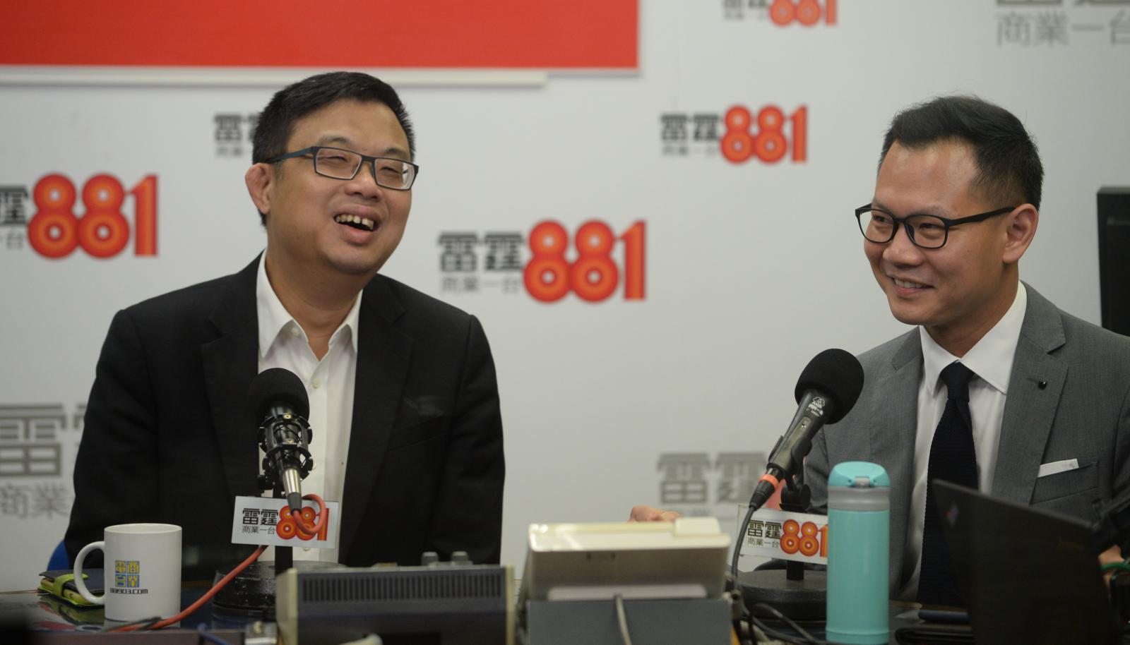 涂謹申(左);郭榮鏗(右)。