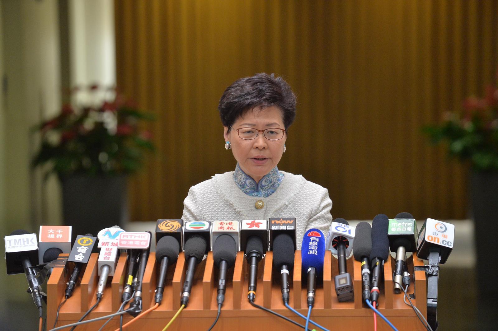 林鄭強調立法會秘書處一直盡忠職守。