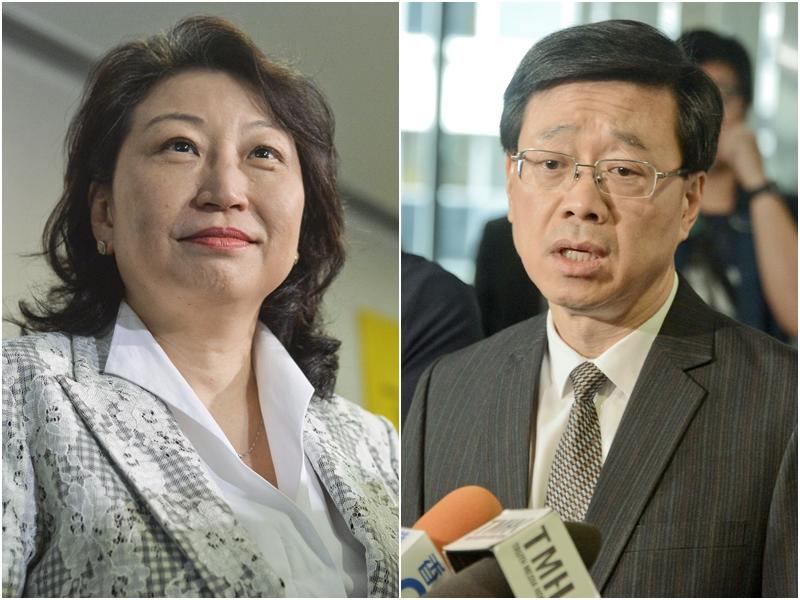 鄭若驊(左)及李家超(右)下午將會召開記者會。資料圖片