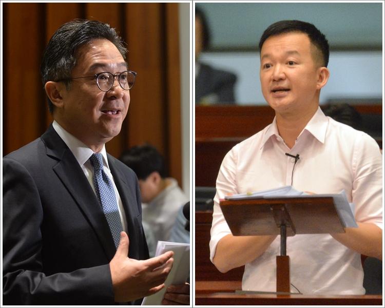 陳志全(右)質疑陳維安(左)是服務建制派。 資料圖片