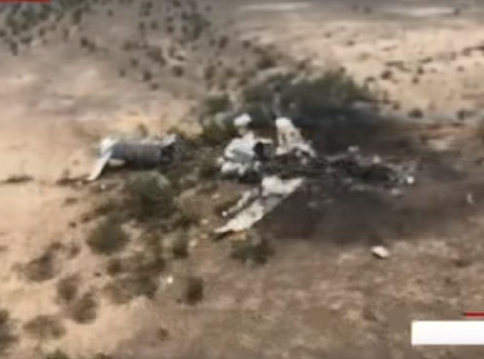涉事飞机全机粉碎。网图