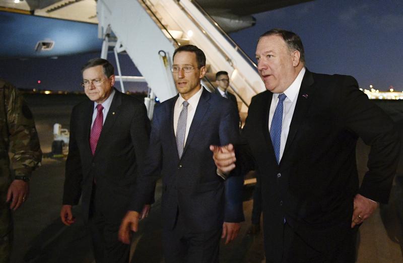 蓬佩奥突到访伊拉克应对伊朗威胁。