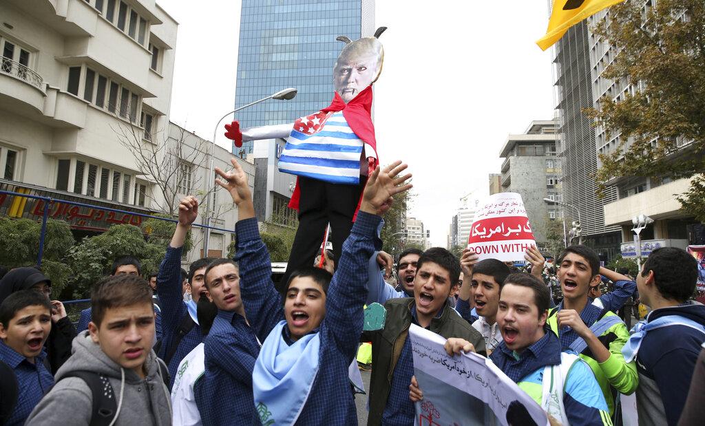 伊朗政府周三宣布局部退出4年前与6个国家缔结的核协议。图片