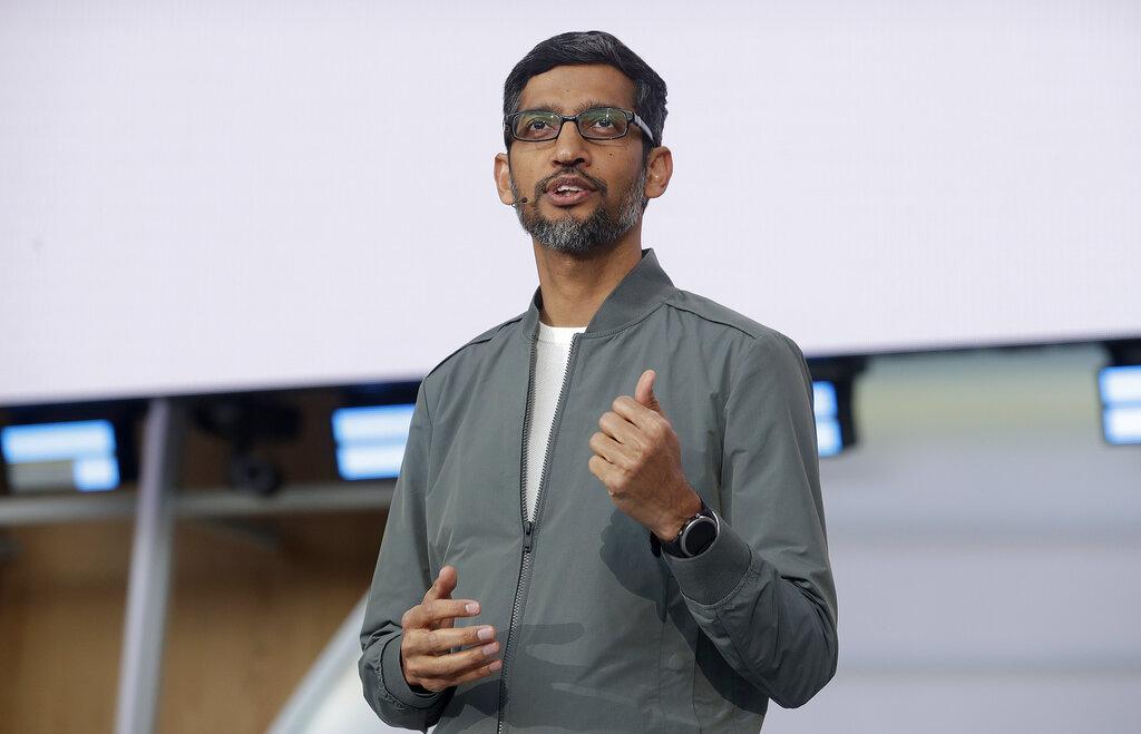 Google行政总裁皮查伊说,在保障用户私隐方面,该公司希望加强努力,走先一步,超越用户不断改变的期望。 AP图片