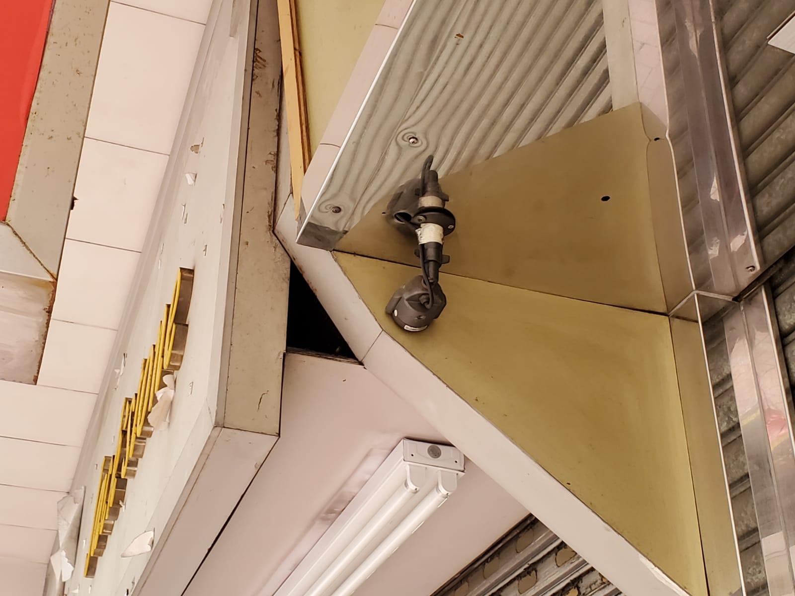 金行門外3個閉路電視鏡頭曾被賊人移動過。 林思明攝