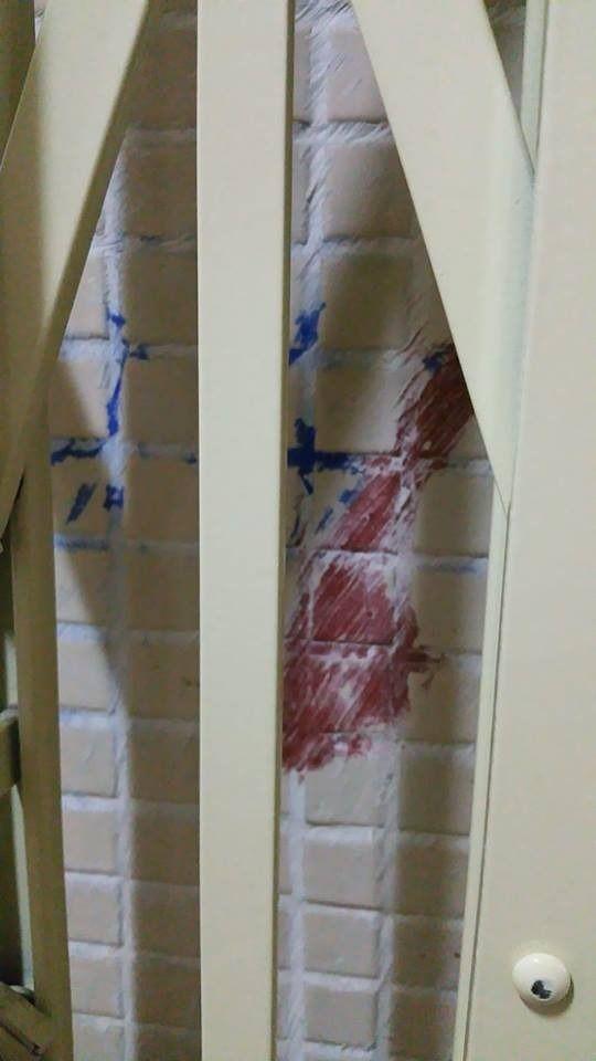 太和邨居民投訴,稱在住所門外被人劃上可疑標記。周炫偉提供圖片