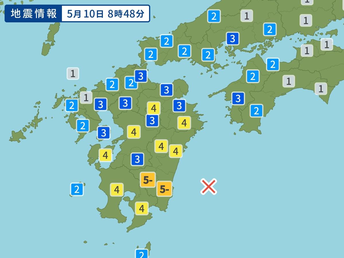 九州东部海域6.3级强烈地震。网上图片
