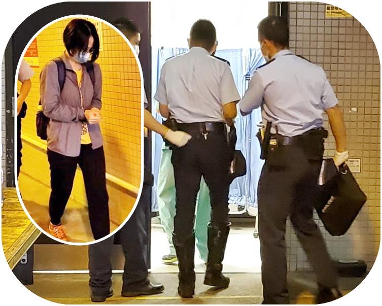 事主一名女亲属到医院殓房认尸。