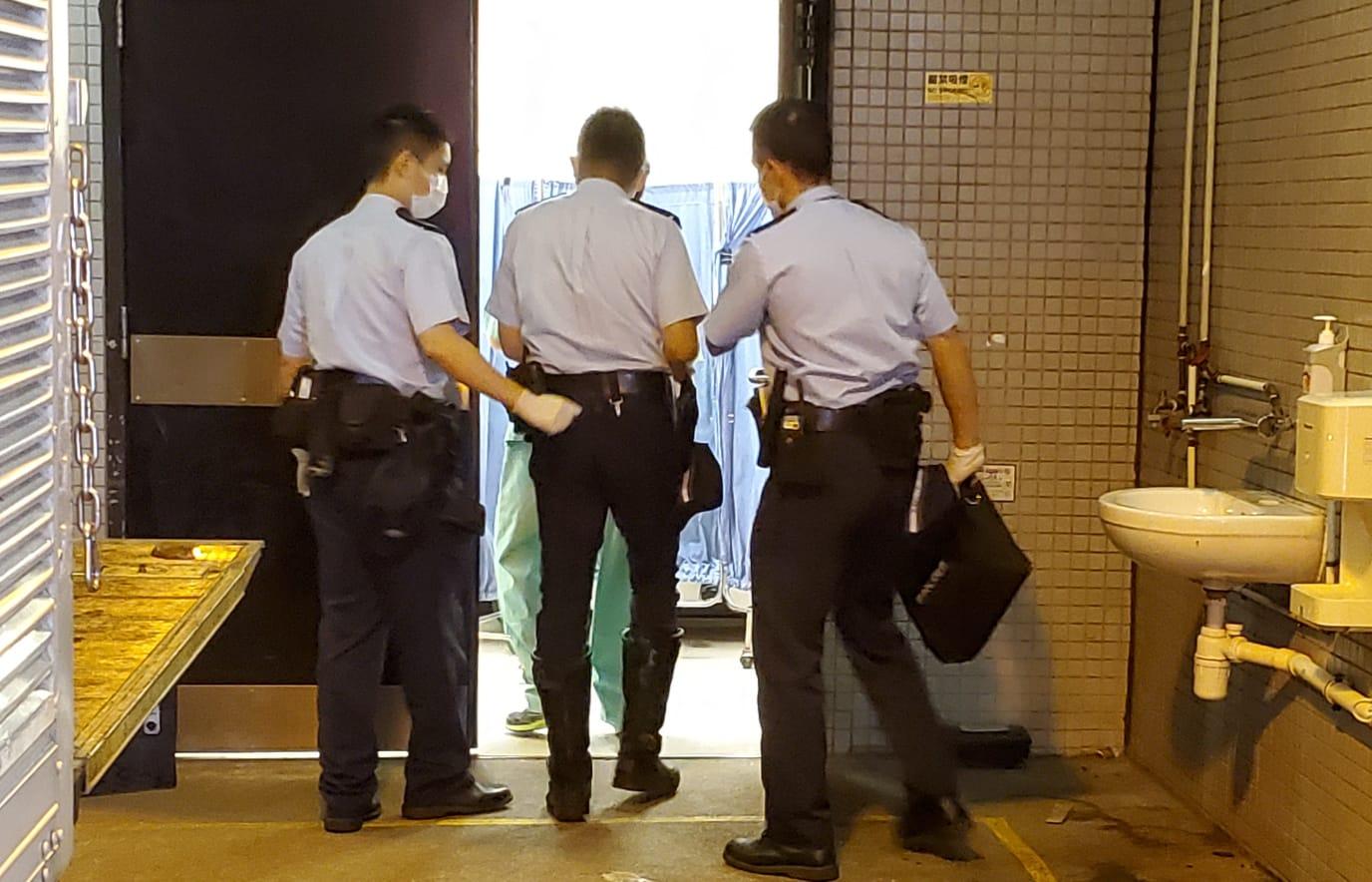 警方事后到东院调查。