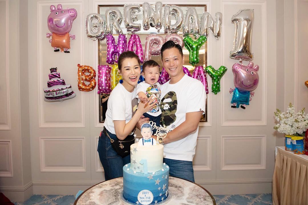 胡杏兒(Myolie)與老公Philip為愛子Brendan慶祝生日。ig圖片
