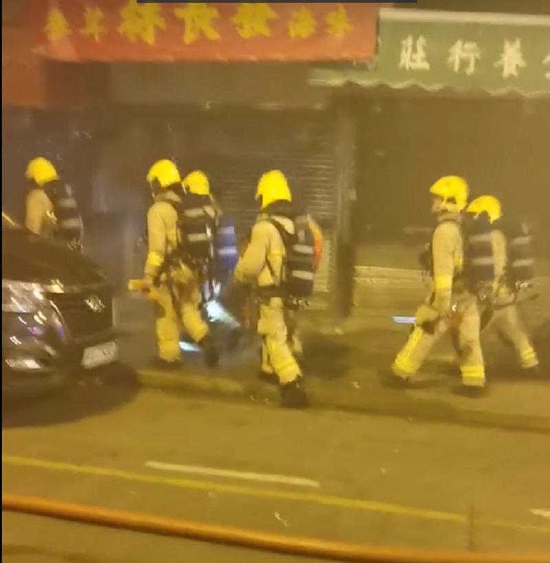 觀塘有水果店發生火警。網民Lkw Lo圖片