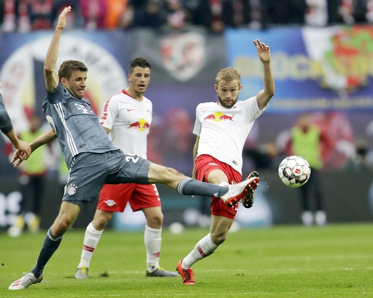 拜仁慕尼黑與萊比錫賽和0:0。AP