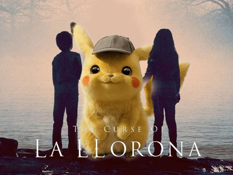 《神探Pikachu》变恐怖电影《哭泣的女诡》。Twitter图片