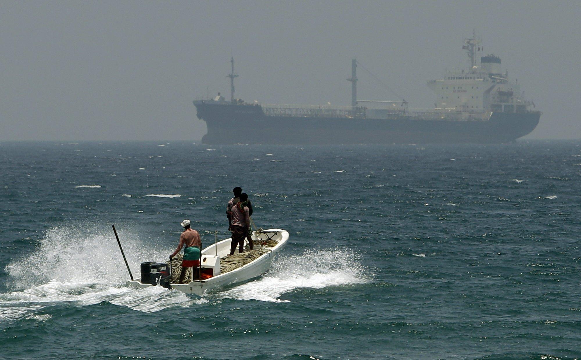 阿联酋海域有4艘商船遇袭。图片