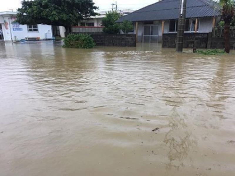 沖绳与那国岛出现「50年一遇」大暴雨。网上图片
