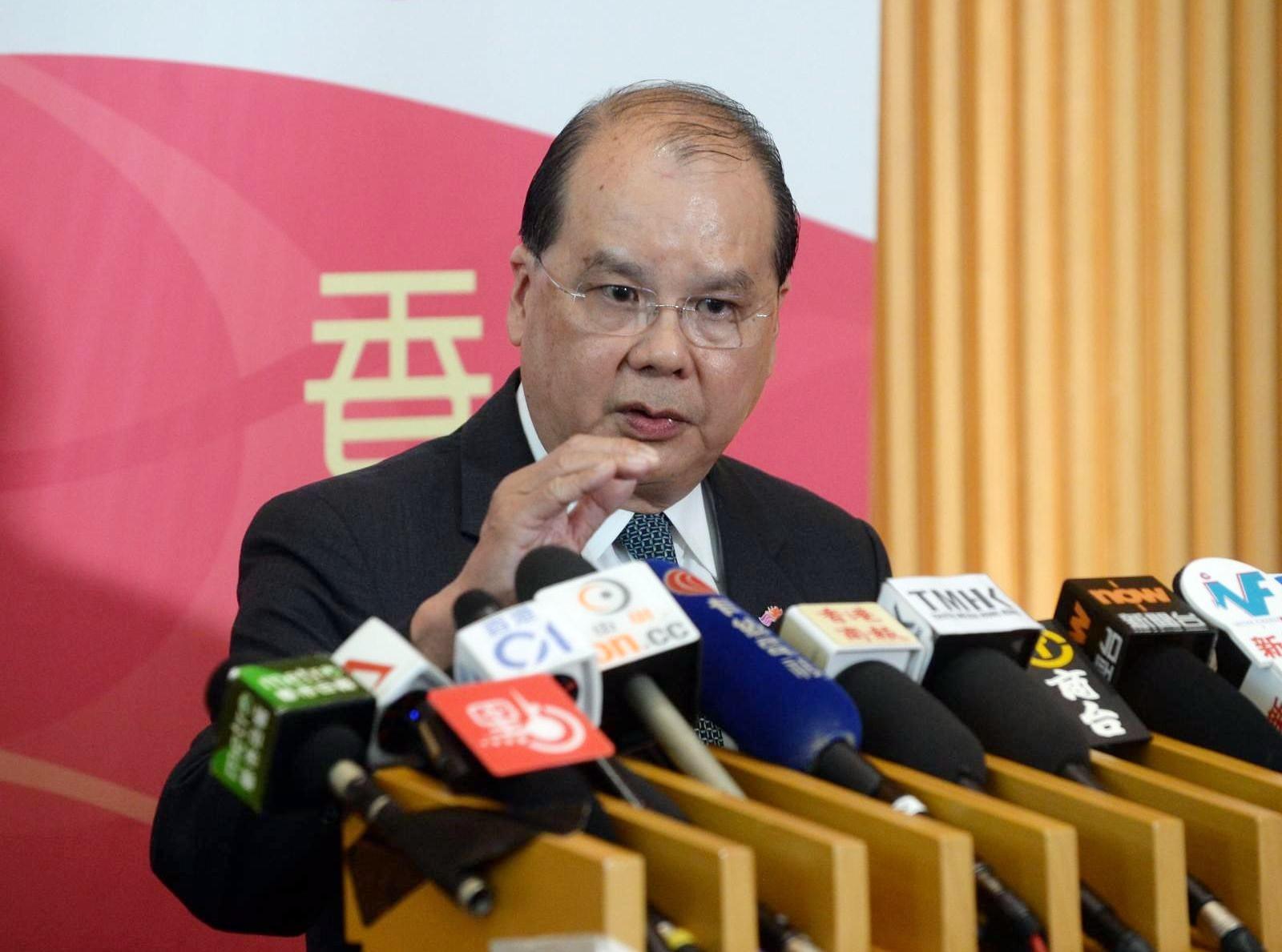 張建宗指,對4次會議仍未能選出主席一事感到遺憾及失望。