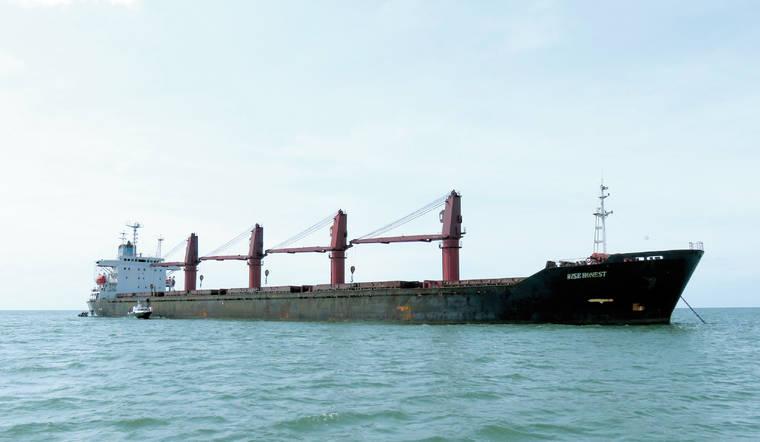 美國政府扣押北韓貨輪「明智誠實號」。AP圖片