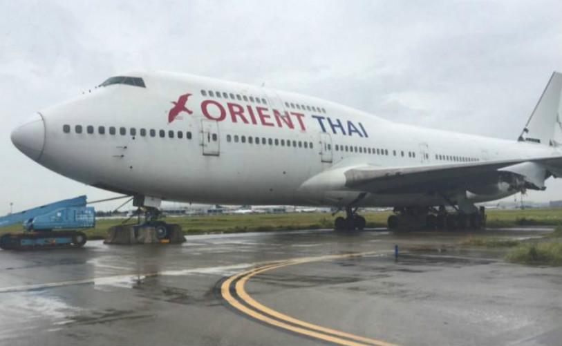 桃園機場拒負飛機零件失竊責任。網上圖片