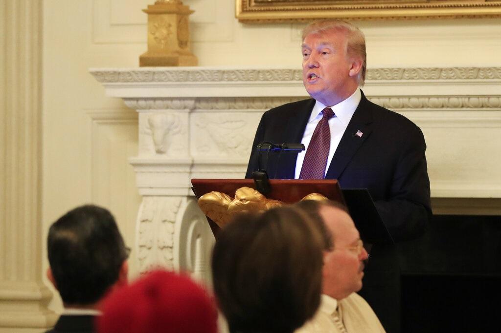 美國總統特朗普。AP圖片