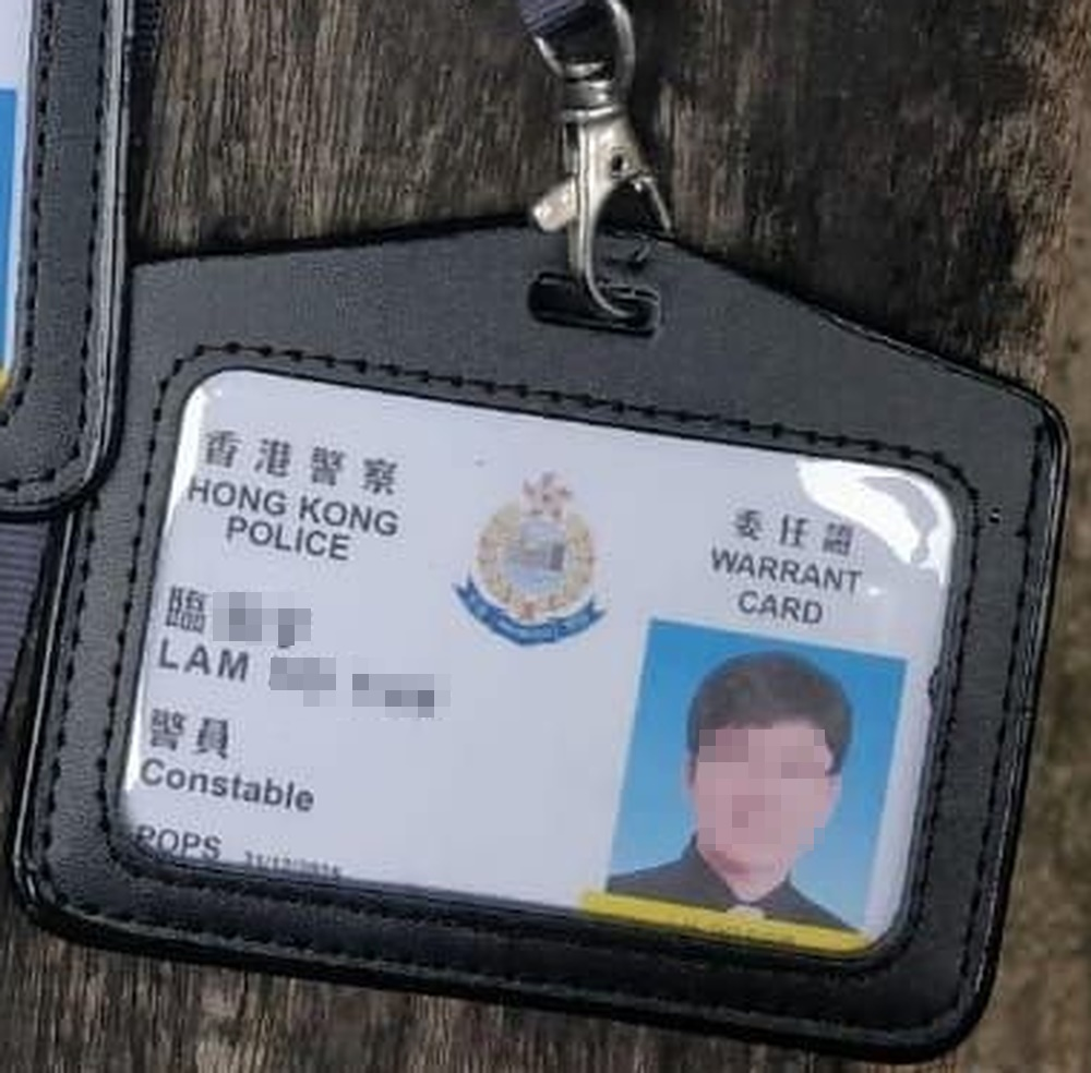55張委任證的警員編號均屬同一編號,而且有張姓臨。