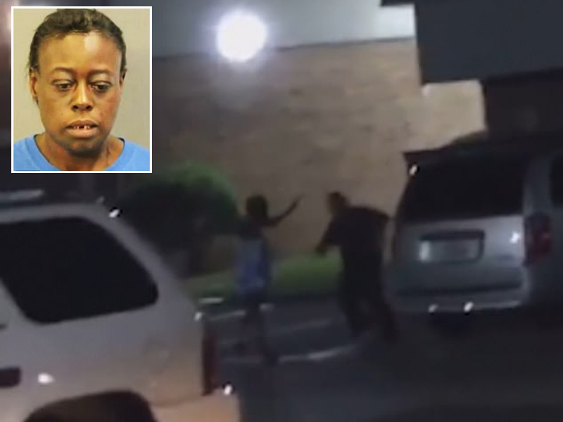 美国德州黑人女子拒捕高喊「怀孕了」,被5枪打死。(网图)