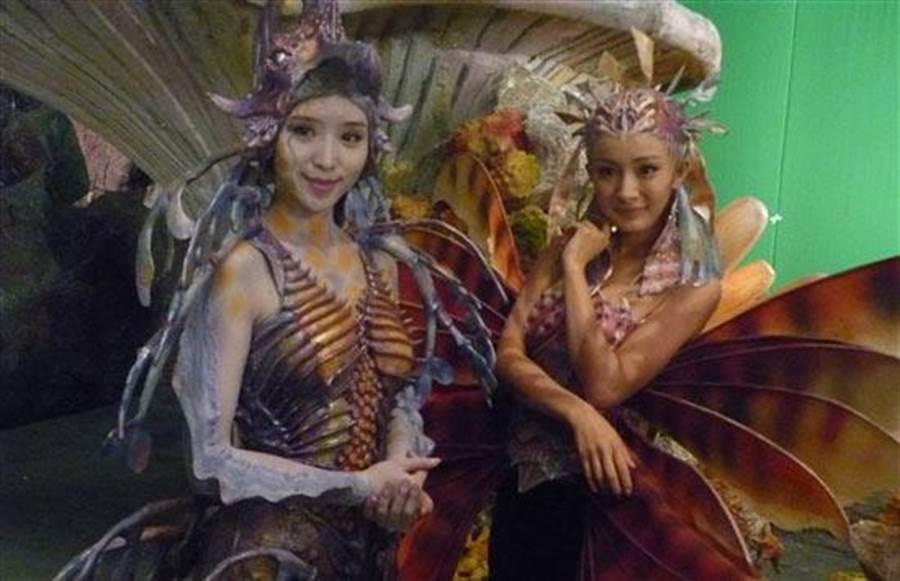 施予斐在荷里活電影《人魚帝國》飾演人魚公主,戲份比楊冪還要多。
