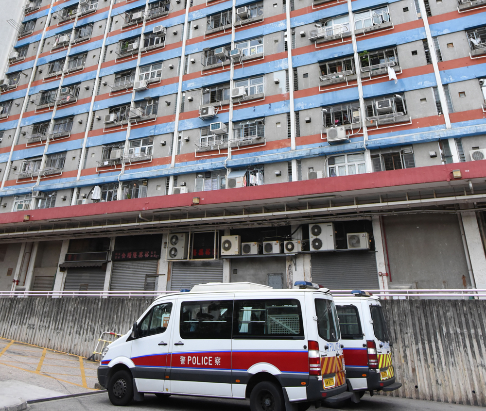 竹園南邨一名女子從高處墮斃。 資料圖片